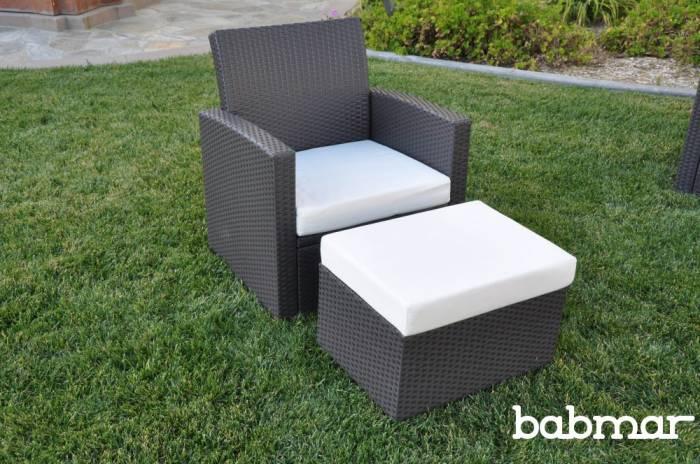 Babmar - PalominoClub Chair With Ottoman