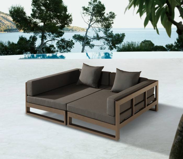 amber modern outdoor double modular daybed. Black Bedroom Furniture Sets. Home Design Ideas