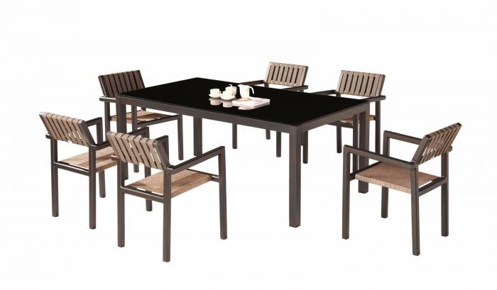 Amber Dining Set For 6 all With Arms