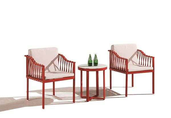 Hyacinth Seating Set for 2 With Sidestraps