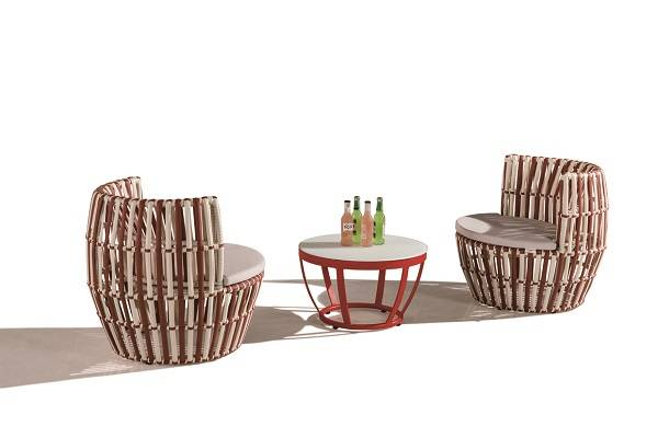 Apricot Round Seating Set for 2