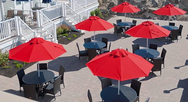 Babmar - Monterey Fiberglass Pulley-Lift Umbrella