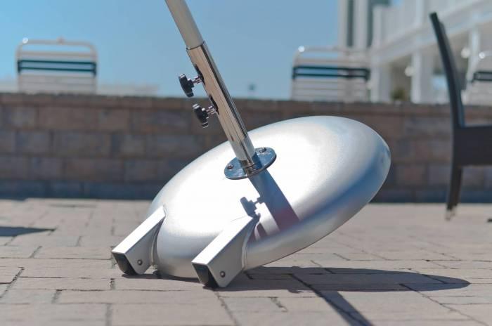 premium aluminum shell umbrella base with wheels