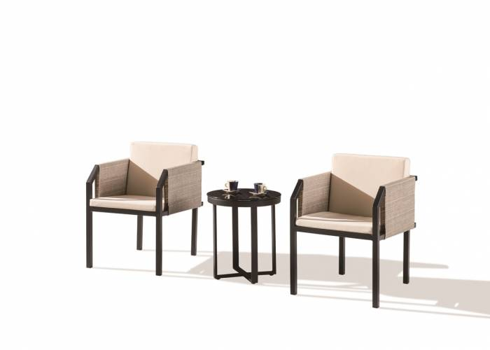 Barite Seating Set for 2 with Side Fabric