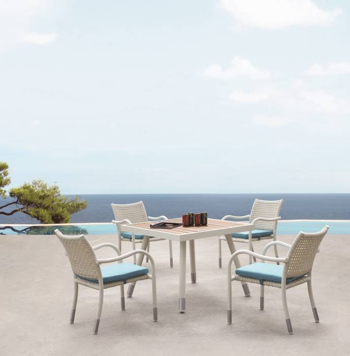 Fatsia Dining Set For 4 with Arms