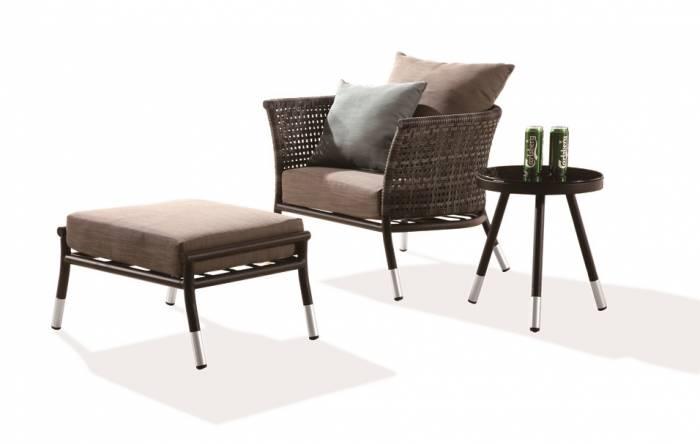 Fatsia Club Chair With Ottoman