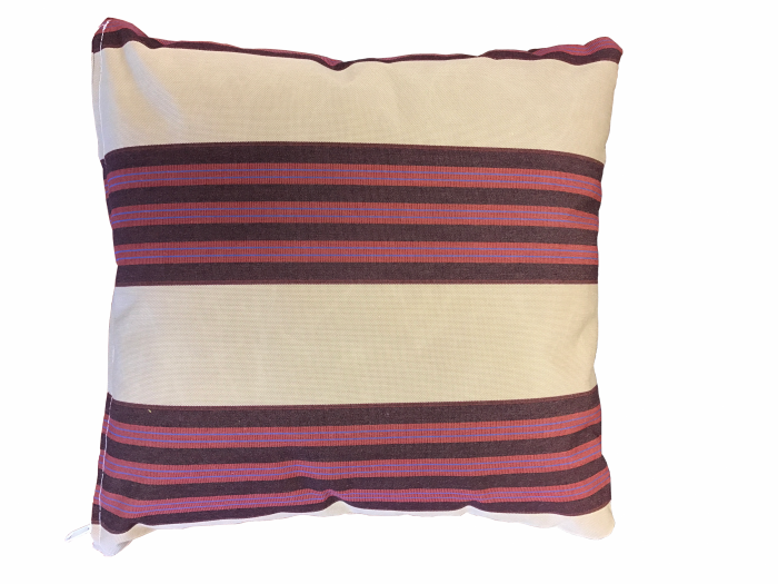 Sunbrella Throw Pillow - Brass/Black Cherry Classic