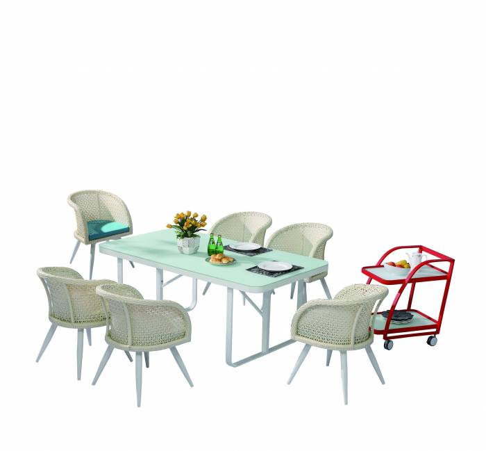 Evian Dining Set for 6