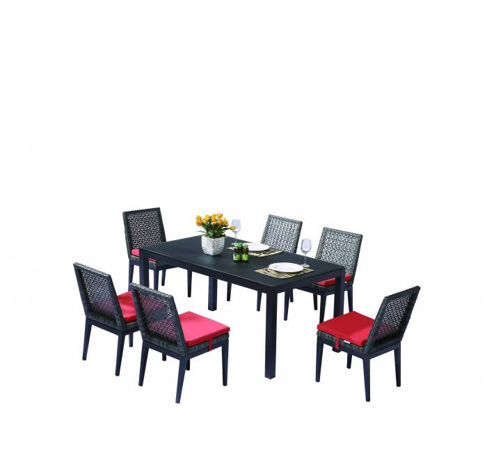 Provence Dining Set for 6 with Armless Chairs