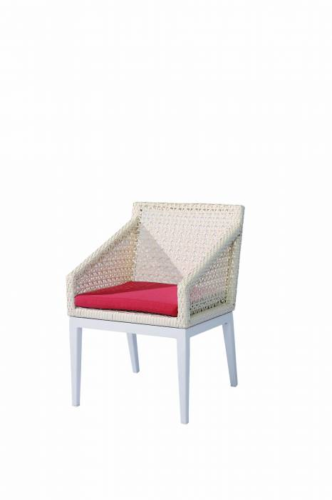 Provence Dining Chair with Woven Arms