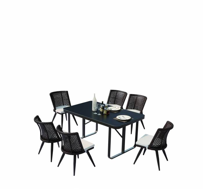 Evian Small Dining Set for 6
