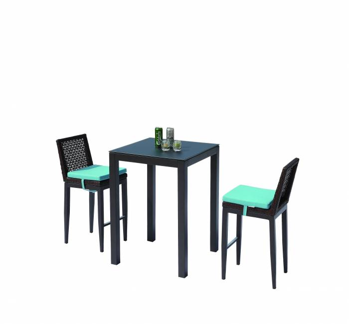 Provence Bar Set for 2 with Armless Chairs