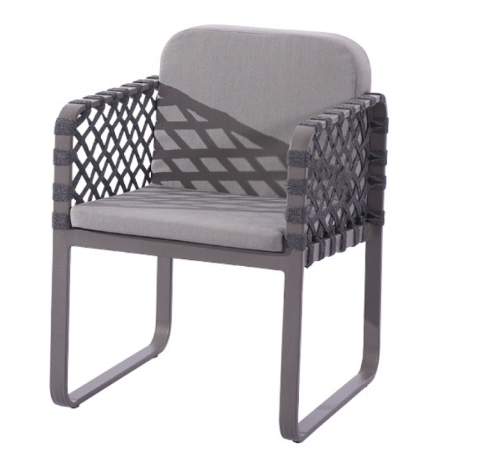 Dresdon Dining Chair with Woven Sides - Image 1