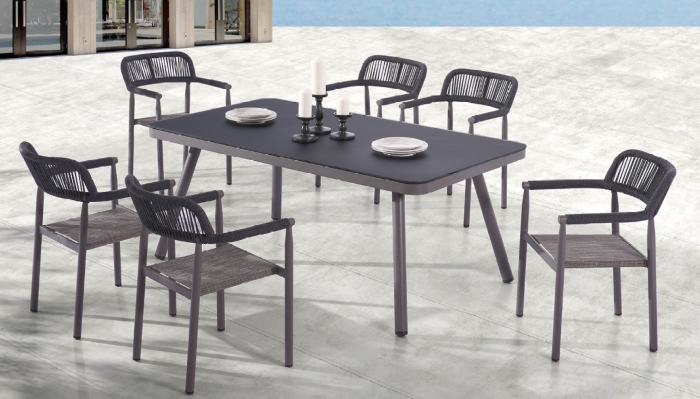Venice Dining Set for 6 with arms