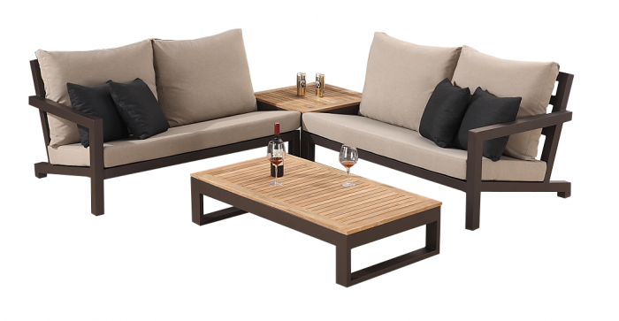 Soho Sectional Sofa Set for 4 with Corner Table