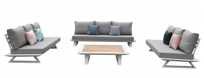 Luxe Sofa Set for 9 with Coffee Table - Image 1