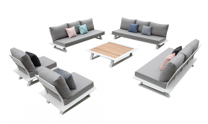 Luxe Sofa Set for 11 with Coffee Table