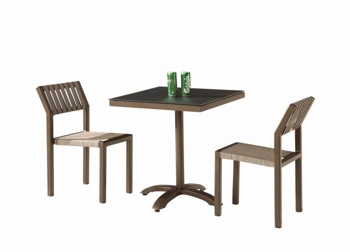 Amber Armless Dining Set for 2 - Image 1