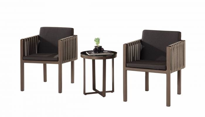 Amber with Side Straps Seating Set For 2