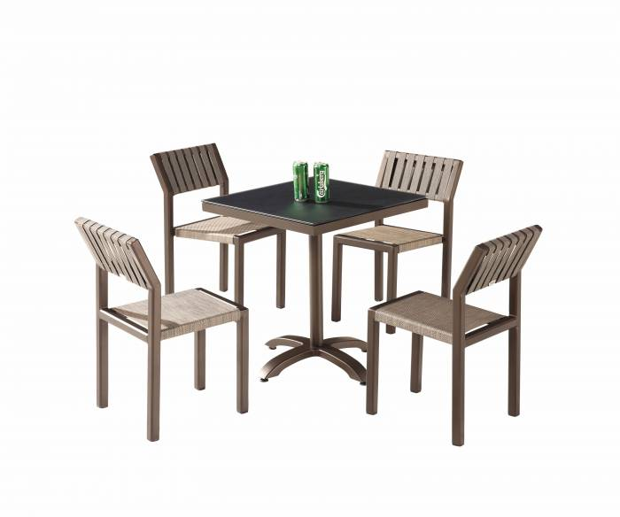 Amber Dining Set For 4 without Arms