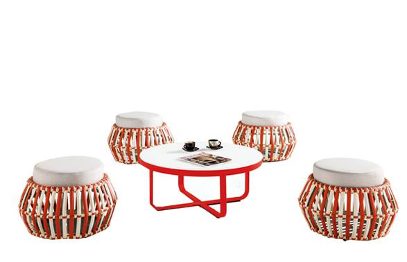 Apricot Backless Seating Set for 4 - Image 1