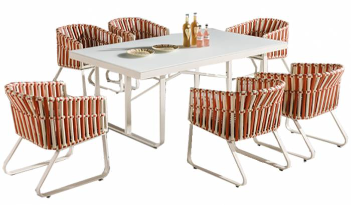Apricot Dining Set for 6 - Image 1