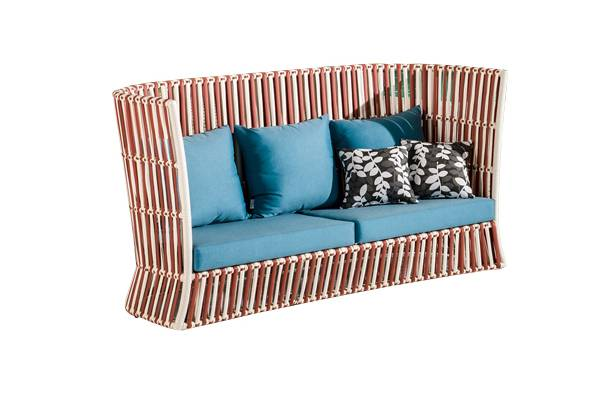 Apricot High Back Sofa - Image 1