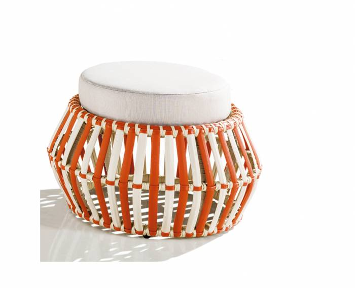 Apricot Backless Round Chair - Image 1