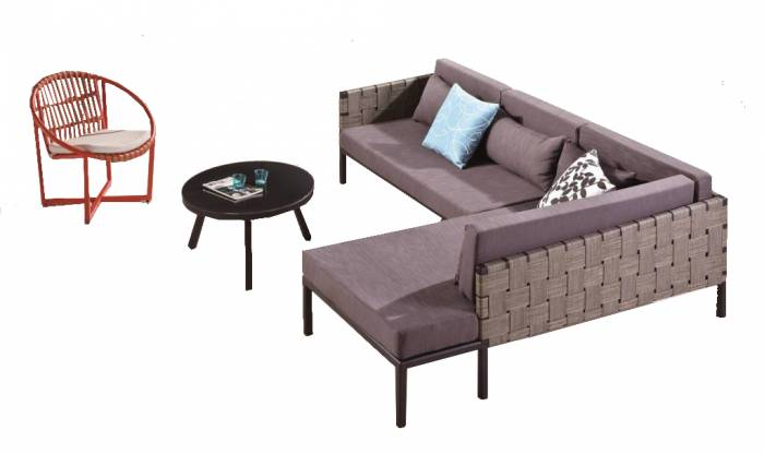 Asthina 2 Seater Sofa with Chaise Lounger Set - Image 1