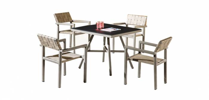 Asthina Dining Set For 4 with Arms