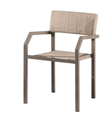 Barite Dining Chair With Armrests - Image 1