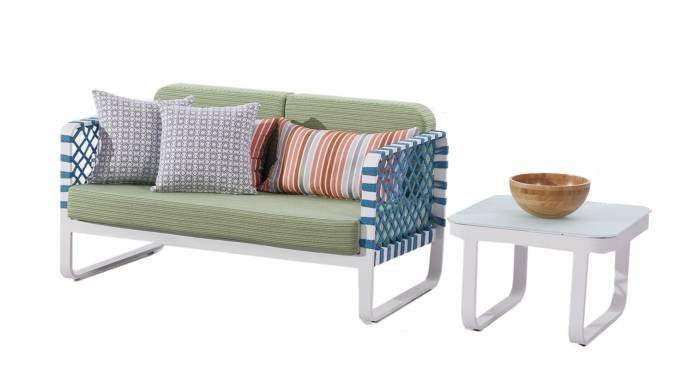 Dresdon Loveseat Sofa with Coffee Table