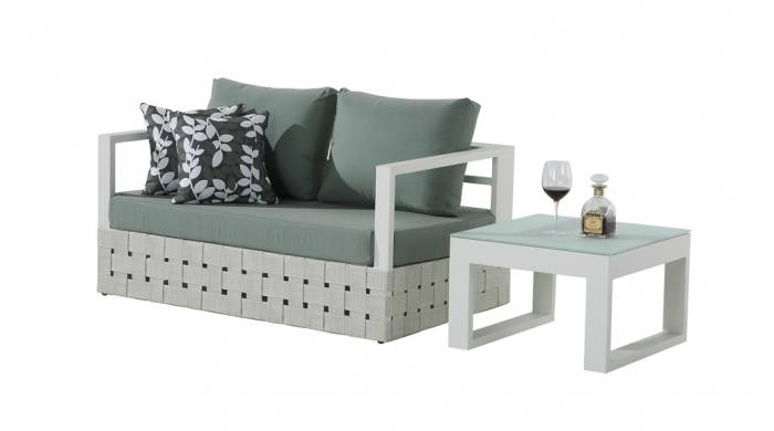 Edge Loveseat Sofa with Coffee Table