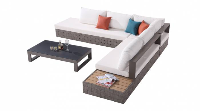 Edge Sectional Sofa Set for 5 with built in Side Table - Image 1