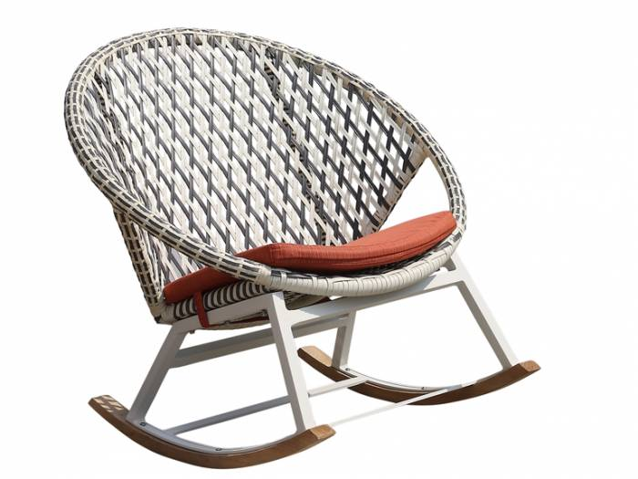 Evian Round Rocking Club Chair - Image 1
