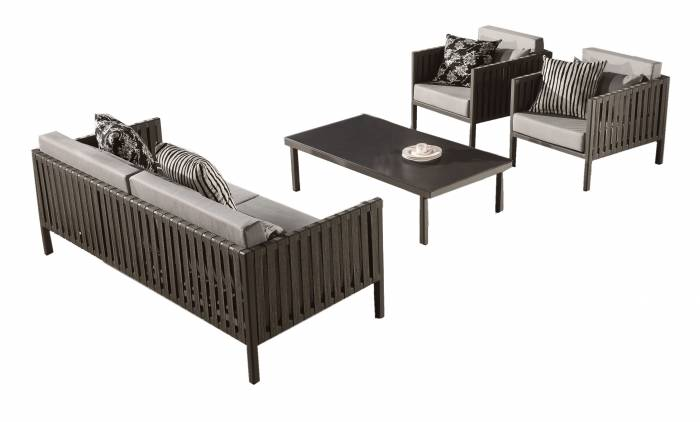 Garnet Modern Outdoor 5 Seater Sofa Set