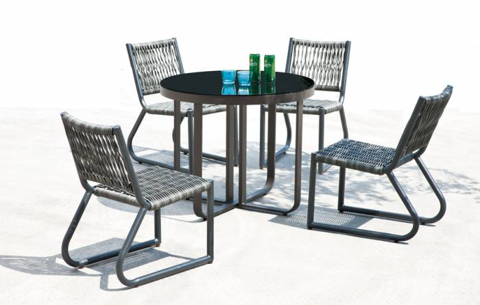 Haiti Armless Dining Set For 4 - Image 1