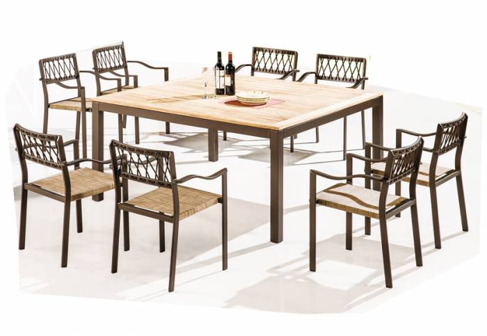 Hyacinth Square Dining Set for 8 - Image 1