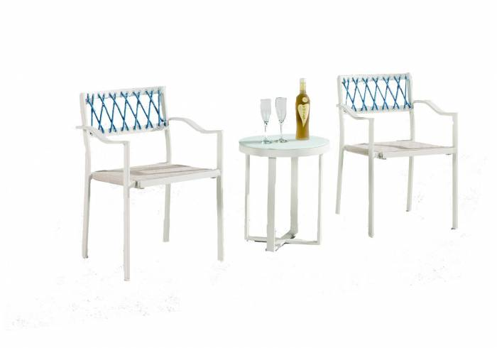 Hyacinth Seating Set for 2 with Arms - Image 1