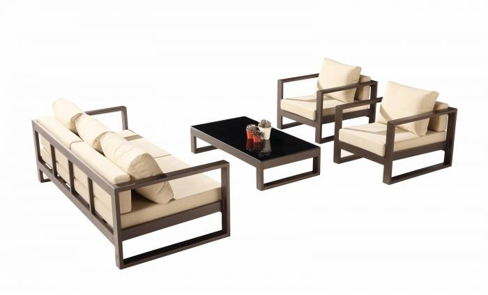 Amber Sofa Set for 5 with 2 Club Chairs - QUICK SHIP - Image 1