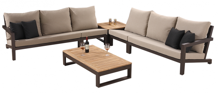 Soho Sectional Sofa Set for 6 with 2 Armless Middles - QUICK SHIP