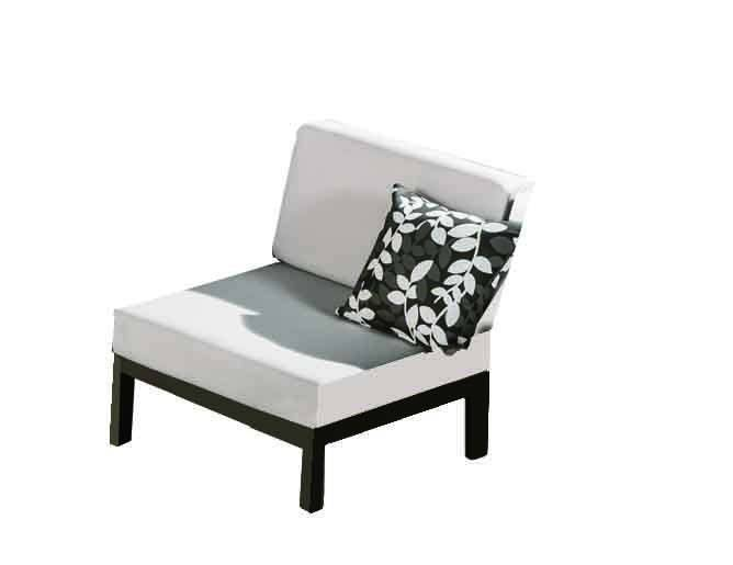 Hyacinth Middle armless chair - Image 1