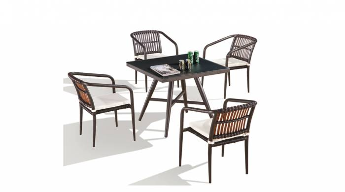 Kitaibela Dining Set for 4 with Square Table