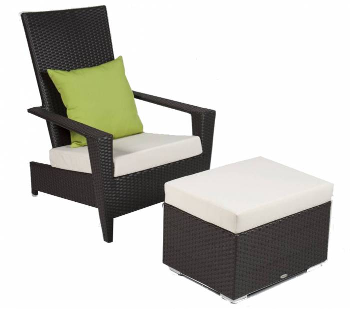 Martano Stackable Chair with Ottoman
