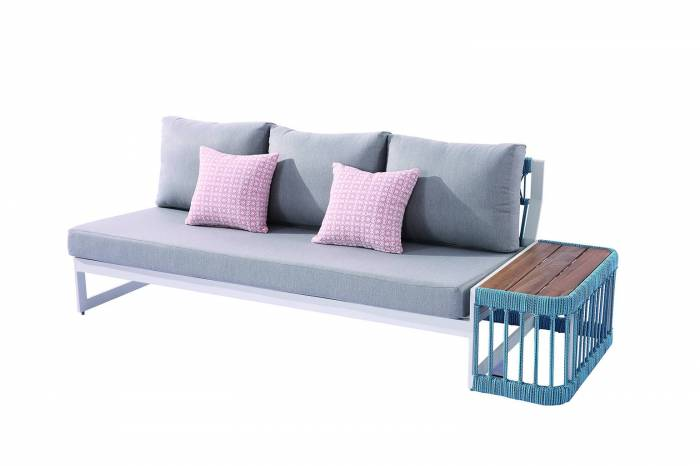 Seattle Right Arm Sofa With Built-In Side Table - Image 1