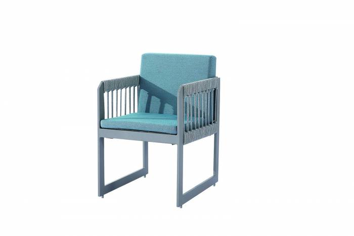 Seattle Dining Chair With Straight Arms - Image 1