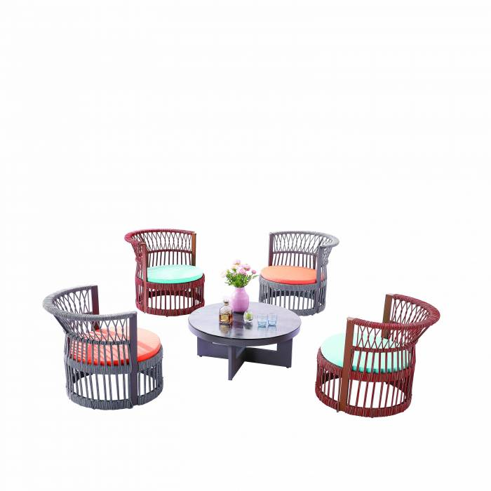 Seattle Round Chair Set For Four - Image 1