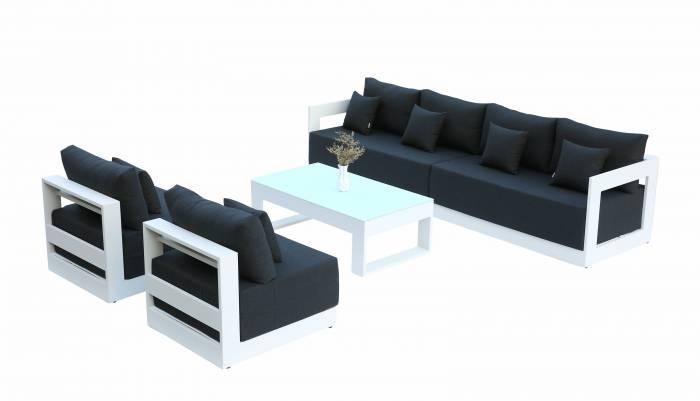 Babmar - Lusso Long Sofa With Armless Middles - Image 1