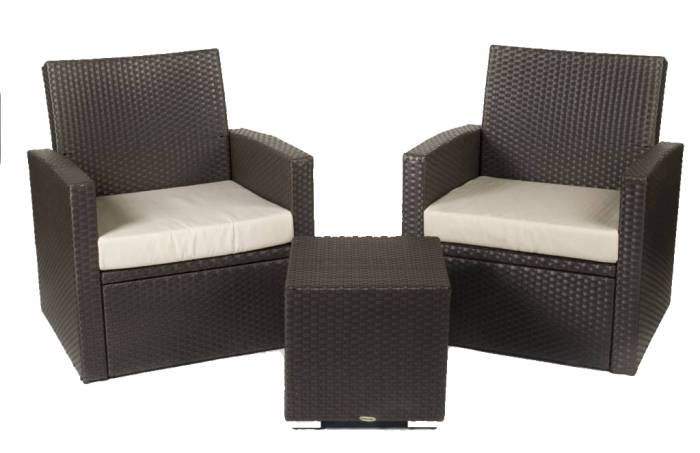 Babmar - Palomino Club Chair Set for 2 with square side table - Image 1
