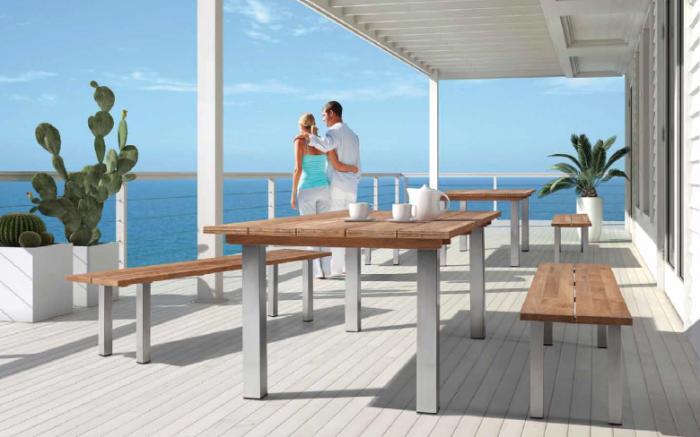 Babmar - Atlas Dining Set With Bench